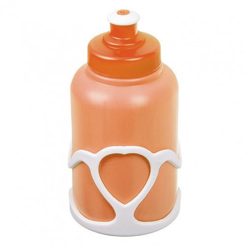 Велофляга  X95404 STG с флягодержателем детская белый-оранжевый