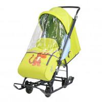Санки  коляска DB1/3 Baby1 лимонный Винни и друзья, Тигруля