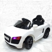 Электромобиль  машина  GS5199W белый  2*6V4,5Ah р/у, крас MP3, свет, 84*41*47 см