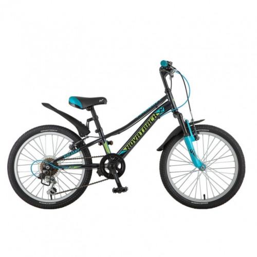 Велосипед 20  Новатрек SH6V.VALIANT.BK8  чёр. 6-ск. нож/т