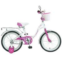Велосипед 14  Новатрек BUTTERFLY.WPN7  бел-роз.нож/т