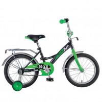 Велосипед 16  Новатрек STRIKE.BKG8 черный-зелёный