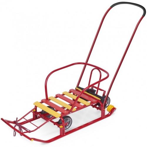 Санки «Тимка 5 универсал» с больш. колесом красный
