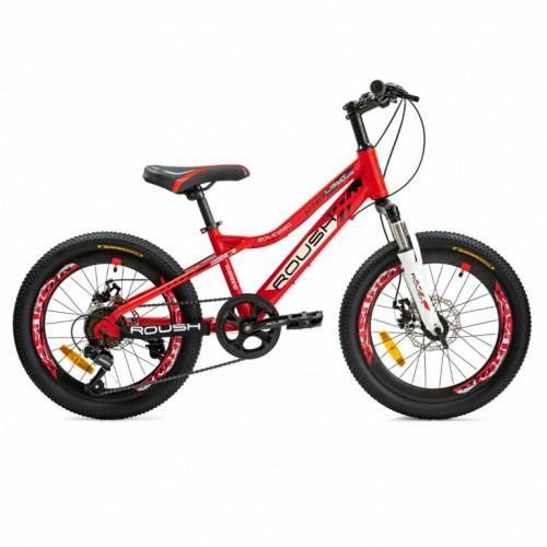 Велосипед 20  20MD220-2 GROSS алюминиевая рама 7ск. переключатели Shimano диск. тормоз, красный