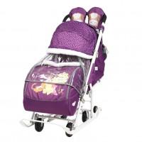 Санки  коляска DB2/1 Baby2 баклажанновый Винни и друзья,