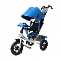 Велосипед 3-х кол. Moby Kids 641088-12blue Comfort 12x10 AIR Car 2 синий светомуз
