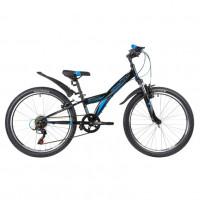 Велосипед 24  Novatrack SH6SV.RACER.12BK8   6ск черный