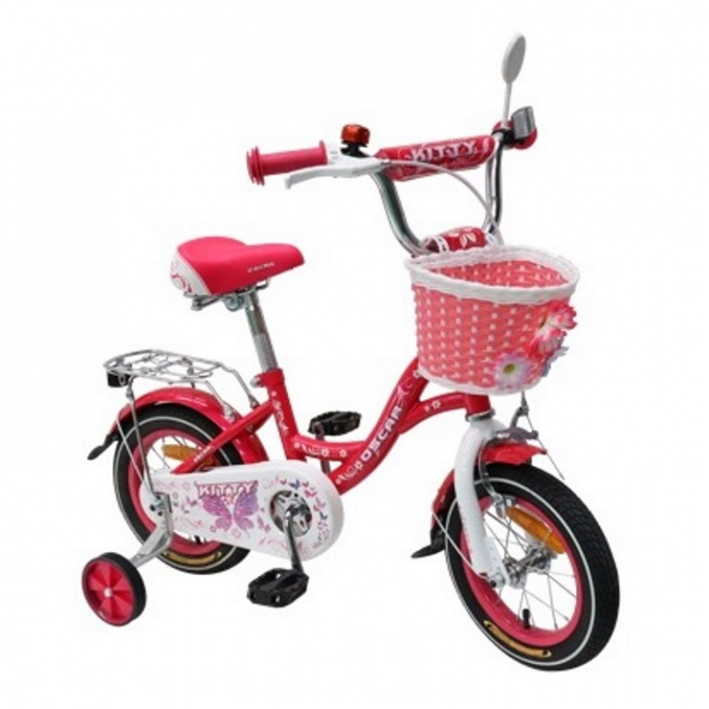 Велосипед 14 OSCAR KITTY розовый/белый