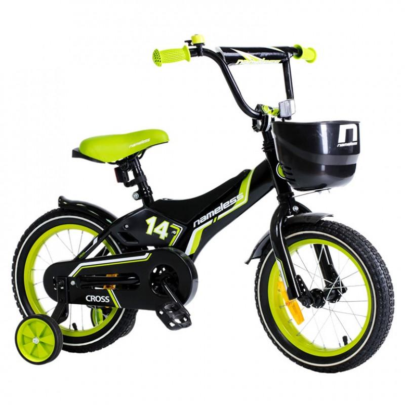 Велосипед 14 Nameless Cross, чёрный/зелёный АКЦИЯ!!!