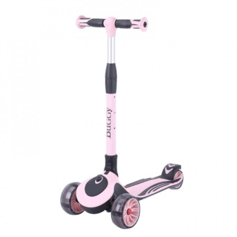 Детский самокат TT Buggy цвет: розово-черный 2021 1/4