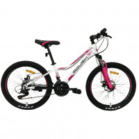 Велосипед 24 Roush 24MD230-1 бело-розовый
