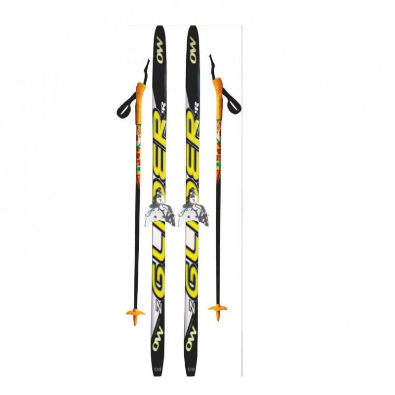 Лыжный комплект STC 75мм 175см (4)+палки+креп.