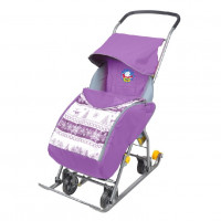 Санки коляска комбинированная «Тимка 1 универсальная»  Лаванда Т1У