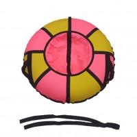 Тюбинг  CH- 85-ТО цвет розовый/жёлтый ,со светоотражателями,цена с камерой д=85см 1/10