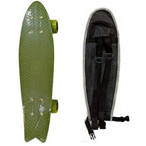 Скейтборд  ТТ Fishboard 23 dark green 1/4 TLS-406
