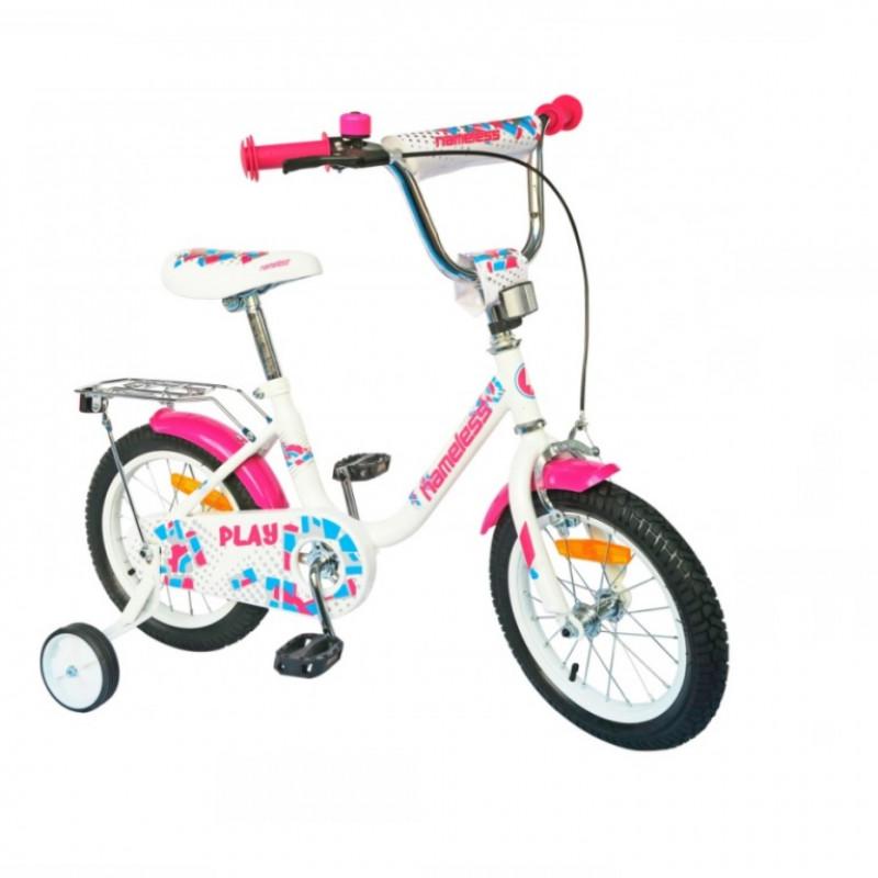 Велосипед 12  Nameless PLAY, белый/фиолетовый
