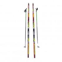 Лыжный комплект NNN креп STC 190см (4)+пал+кр степ