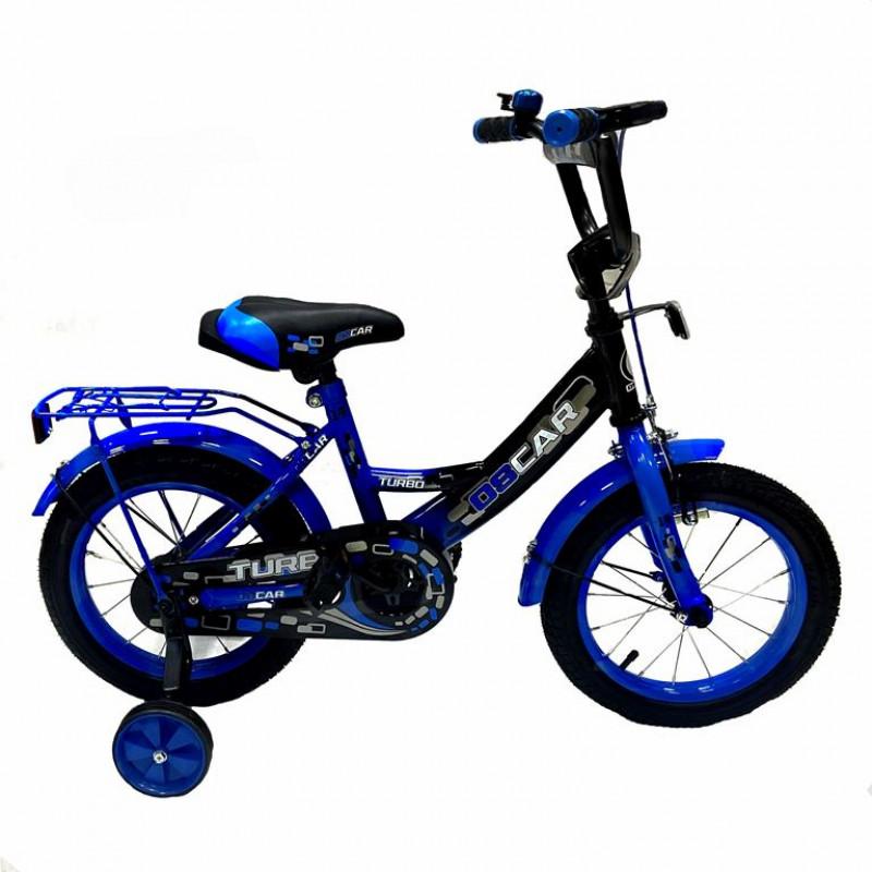 Велосипед 14 OSCAR TURBO Black-Blue (черный/синий)  АКЦИЯ!!! 2021