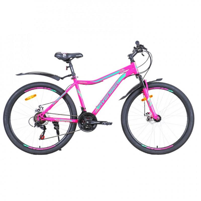 Велосипед 26 Avenger C263DW, фиолетовый/зеленый, 17,5
