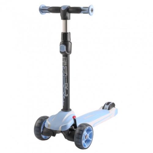 Детский самокат Tech Team SURFGIRL 2020 (голубой) со светящимися колесами 1/4 (Р)