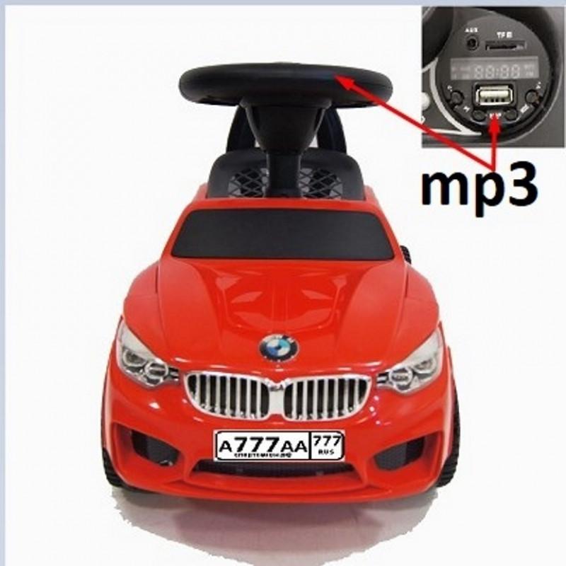Каталка 45014  БМВ  мп3  красный