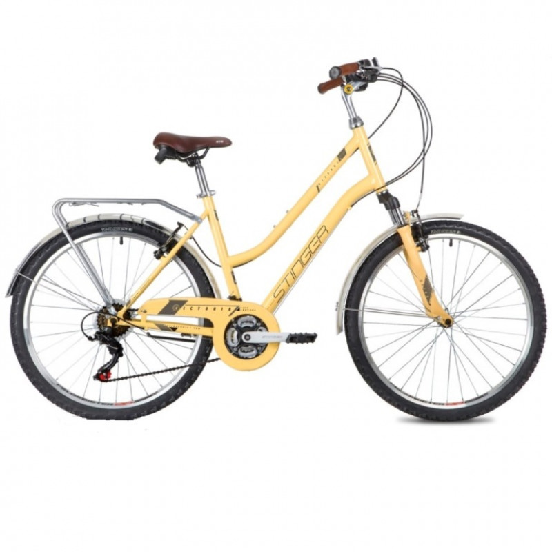 Велосипед 26 Stinger SHV.VICTOR.15BG10 бежевый