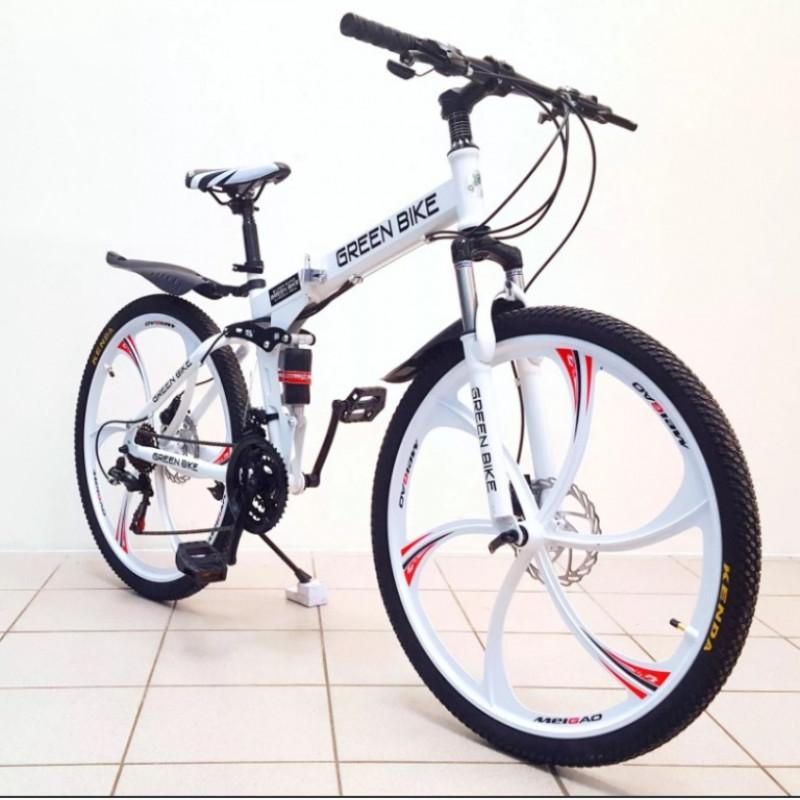 Велосипед 26 на литых дисках  складной белый (P)