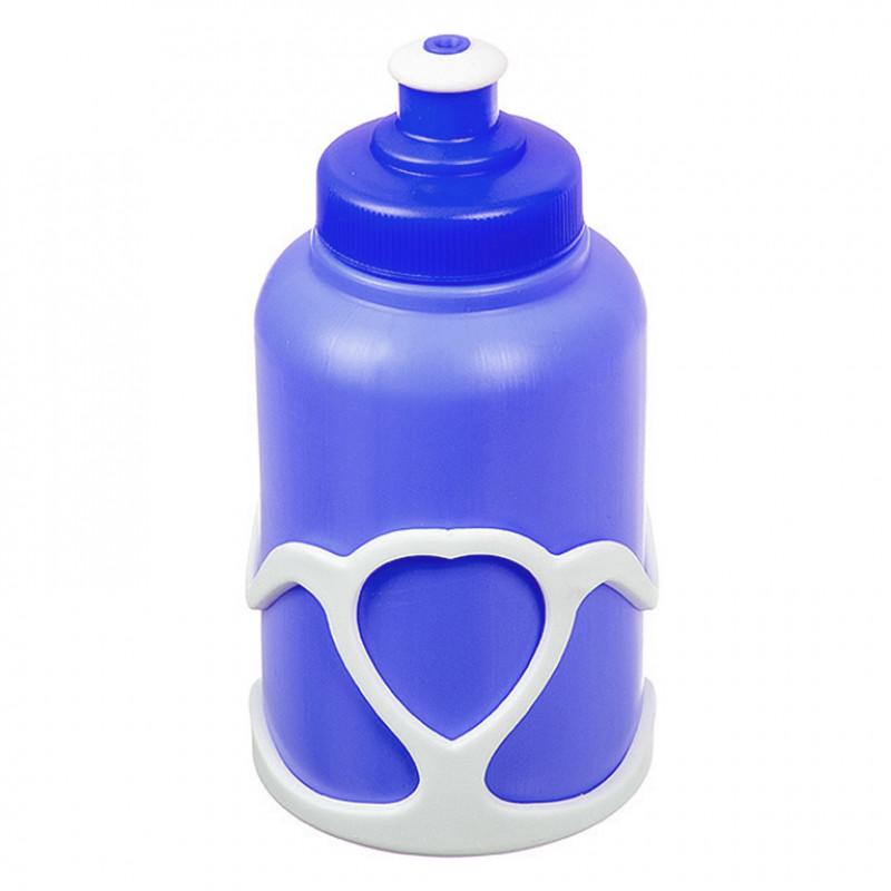 Велофляга X95403 STG с флягодержателем детская белый-синий