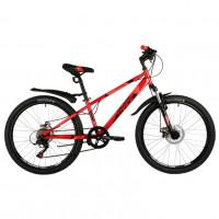 Велосипед 24 Novatrack SH6SD Extreme12RD21  красный