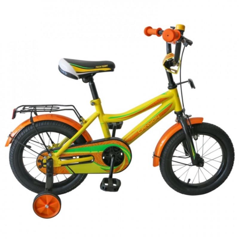 Велосипед 14 TechTeam Canyon цвет: жёлтый (сталь)