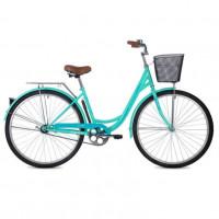 Велосипед 28 Foxx SHU.Lady VINTAGE.GN0 зел.+пер. корз
