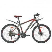 Велосипед 26 Nameless S6700D-GR/RD-17, серый/красный
