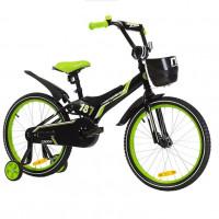 Велосипед 18 Nameless Cross, черный/зеленый