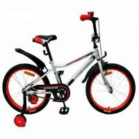 Велосипед 18  AVENGER SUPER STAR, серый/красный