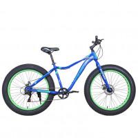 Велосипед 26 Fat bike Avenger C262D синий/зеленый неон
