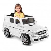 Электромобиль детский Mercedes-Benz G63 белый  HL168