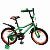 Велосипед 14  AVENGER SUPER STAR, зелёный/черный