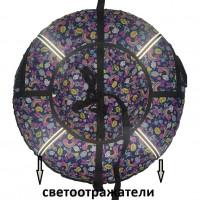 Тюбинг  CH- 75-ГЛАМУР-Микки ,1/10 с мягкими ручками,с замком,со светоотражателями,цена с камерой д=75см new