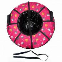 Тюбинг  CH-105-ГЛАМУР-Кошки розовые в чёрном 2022,1/10 ,цена с камерой д=105см new