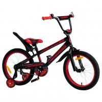 Велосипед 18 Nameless Sport, черный/красный