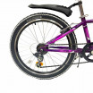 Велосипед 24 Novatrack SH6SV.Alice.10PR21  6-ск пурпурный