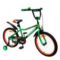 Велосипед 12  AVENGER SUPER STAR, зелёный/чёрный