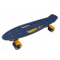 Скейтборд  ТТ  Shark 22  blue/yellow 1/4 TSL-405M пластик