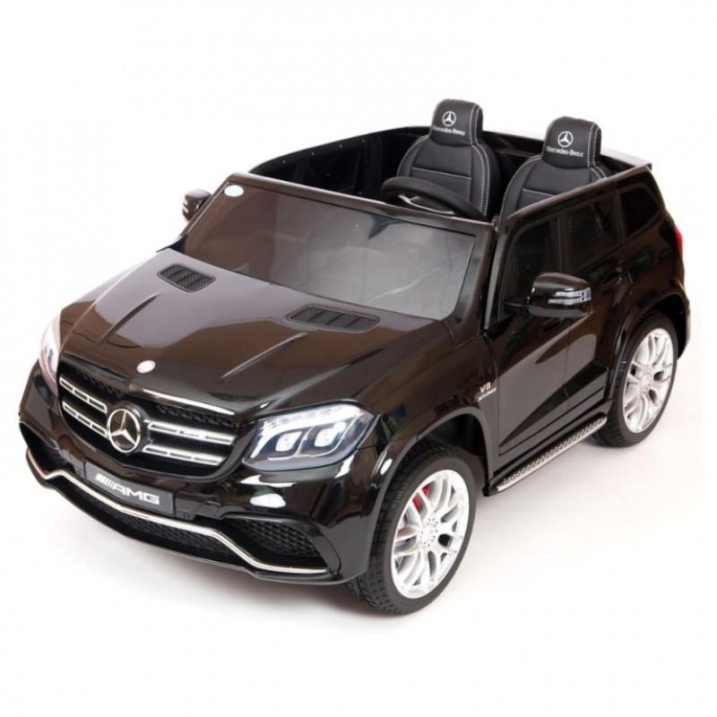Электромобиль детский Mercedes-Benz GLS63 4WD 41926 черный глянц  24в р-у кож 131*70* (P)