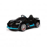 Электромобиль детский Bugatti Chiron HL338 51708 (Р)  (Лицензионная модель) чёрный глянец