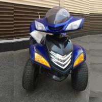 Электроквадроцикл детский 37241 НАД (1) 12в, кожанное сиденья, синий
