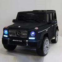 Электромобиль детский Mercedes-Benz G65AMG 41595 черный глянец 12в р-у кож 131*70,5*65