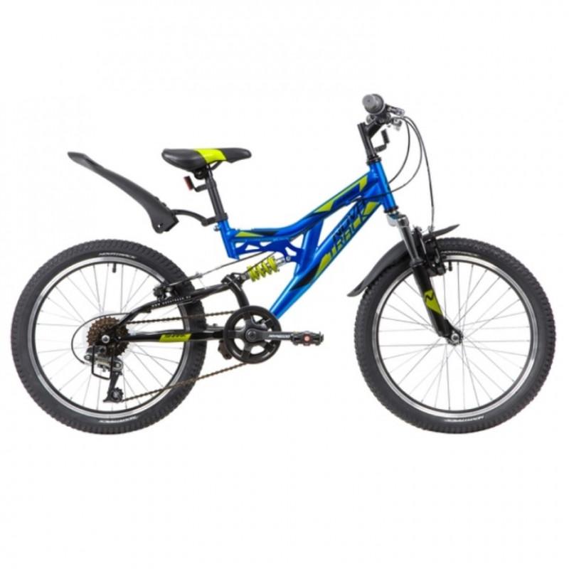 Велосипед 20 Novatrack SHARK синий, сталь, 6 скор., Microshift, Power, V-brake