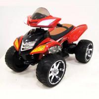 Электроквадроцикл детский E005KX (1) красный 12в резиновые колеса,кожанное сиденья