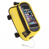 Велосумка X94986 Roswheel 12496S-CC5 на руль для телефона размер S жёлтая